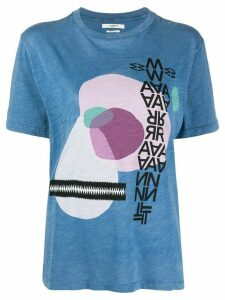 Isabel Marant Étoile abstract print T-shirt - Blue