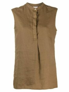 Aspesi linen sleeveless shirt - Brown