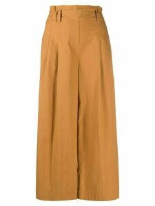 Luisa Cerano belted wide fit trousers - NEUTRALS