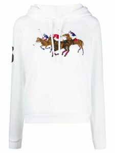 Polo Ralph Lauren embroidered logo hoodie - White