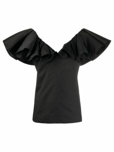 Philosophy Di Lorenzo Serafini ruffled sleeve V-neck blouse - Black