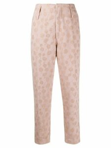 Forte Forte embroidered high-rise trousers - PINK