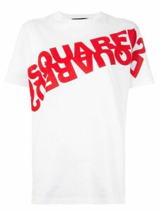 Dsquared2 Mirrored logo print T-shirt - White