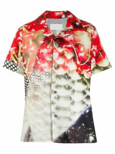 Maison Margiela graphic print bowling shirt - Red