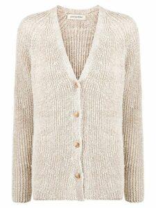 Gentry Portofino ribbed knit cardigan - NEUTRALS