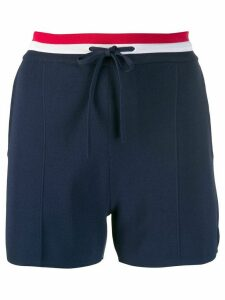 Thom Browne drawstring pintucked shorts - Blue