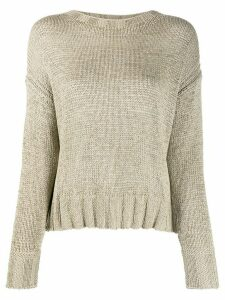 Luisa Cerano crew neck knitted jumper - NEUTRALS