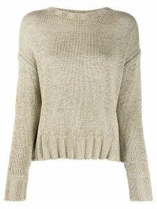 Luisa Cerano crew neck knitted jumper - NEUTRALS