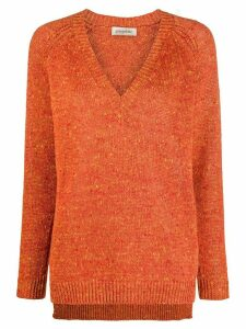 Gentry Portofino v-neck jumper - ORANGE