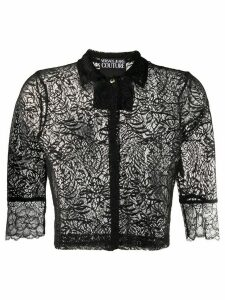 Versace Jeans Couture lace cropped shirt - Black