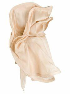 Nina Ricci oversized ruffled top - NEUTRALS