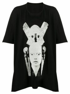 Rick Owens DRKSHDW photographic-print oversized top - Black