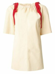 Marni drawstring neck blouse - Yellow