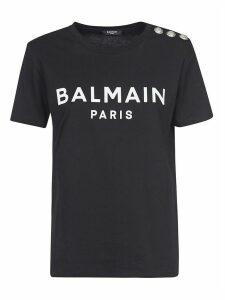 Balmain Embellished Logo Print T-shirt