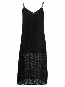 Blumarine embellished strap cami dress - Black