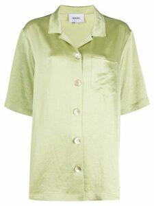 Nanushka Ella satin shirt - Green