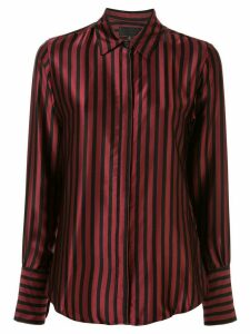 Nili Lotan striped satin shirt - Red