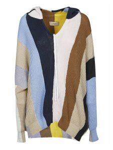 Maison Flaneur Color-block Oversize Striped Sweatshirt