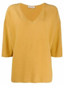 Gentry Portofino dolman sleeve jumper - Yellow