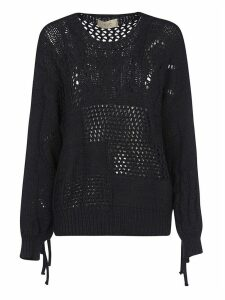 Maison Flaneur Perforated Woven Sweatshirt