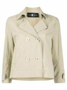 Luisa Cerano double-breasted trench jacket - NEUTRALS