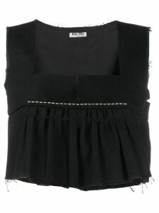 Miu Miu stitch-detail tank top - Black