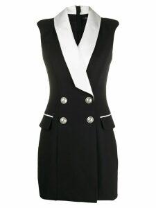 Balmain double-breasted blazer mini-dress - Black