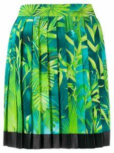 Versace Jungle pleated skirt - Blue