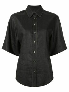 Joseph contrast stitching short-sleeved shirt - Black