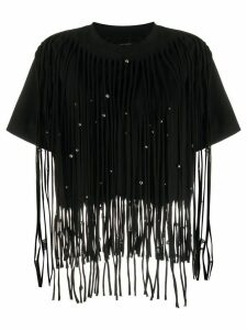 Isabel Marant Bianea beaded fringed T-shirt - Black