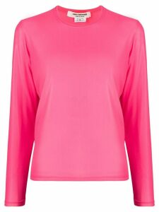 Junya Watanabe crew neck long-sleeved top - PINK