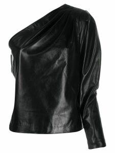 Manokhi asymmetric one-shoulder top - Black