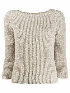 Gentry Portofino chunky knit jumper - NEUTRALS