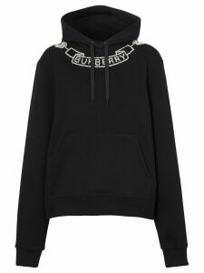 Burberry embellished logo hoodie - Black