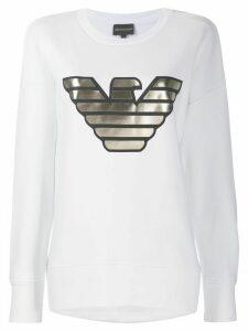 Emporio Armani metallic logo sweatshirt - White