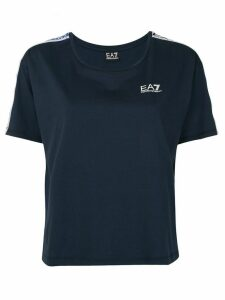 Ea7 Emporio Armani logo short-sleeve top - Blue