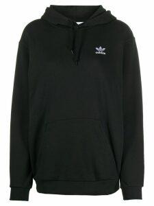 adidas logo embroidered hoodie - Black
