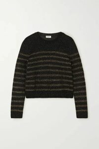 SAINT LAURENT - Striped Lurex Sweater - Black