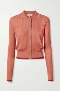 Lee Mathews - Ribbed Tencel Cardigan - Brick