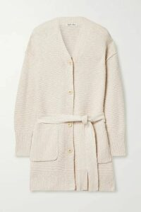 Alex Mill - Belted Cotton And Linen-blend Cardigan - Beige