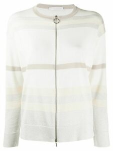 Fabiana Filippi striped zipped cardigan - NEUTRALS