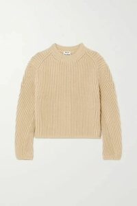 Acne Studios - Ribbed Cotton-blend Sweater - Beige
