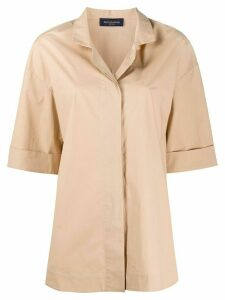 Piazza Sempione spread collar shirt - NEUTRALS