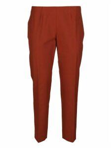 Piazza Sempione Orange Cotton Trousers