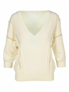 Chloe Lace-trimmed Knitted Sweater