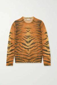 Dries Van Noten - Jelle Tiger-print Cotton-blend Sweater - Tan