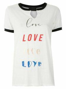 Andrea Bogosian Refyl printed T-shirt - NEUTRALS