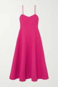 Rebecca Vallance - Natalia Cloqué Midi Dress - Pink