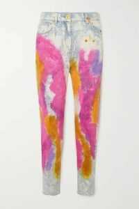 Versace - Tie-dyed High-rise Straight-leg Jeans - Blue
