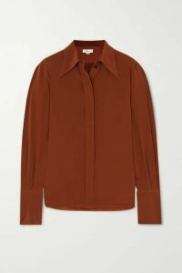 Victoria Beckham - Crepe De Chine Shirt - Brown